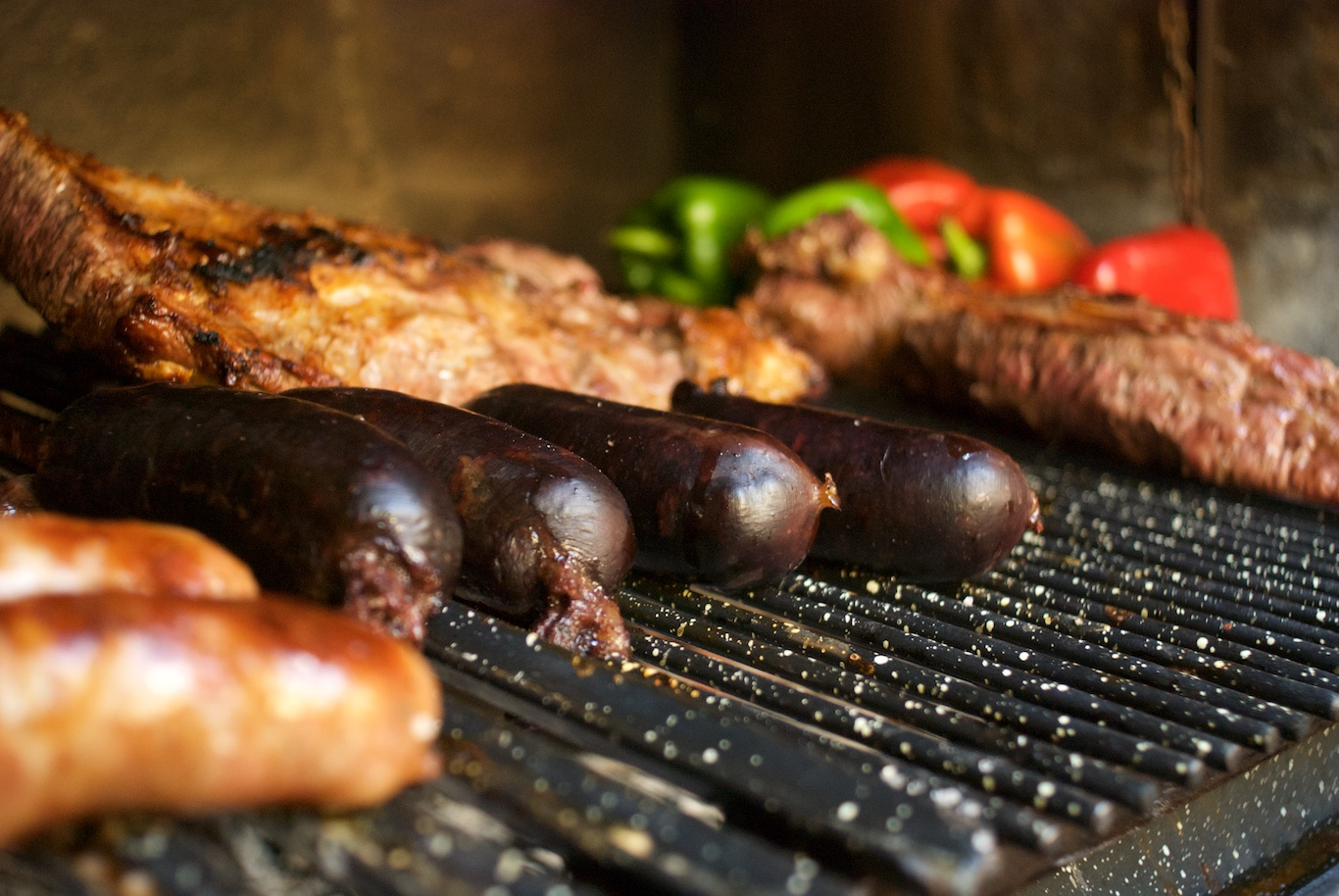 Meat on the grill for Asado Adventure