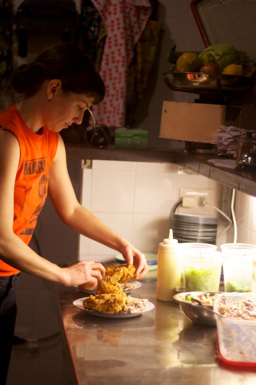Chef Liza at work