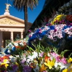 Florists at Chacarita Cemetery