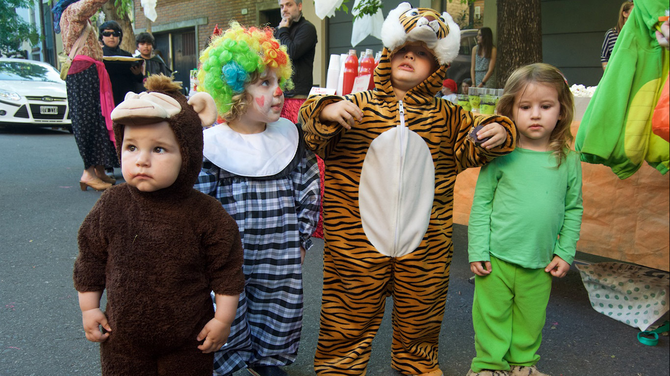 Kids at a Halloween party