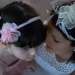Mother and daughter have a heart to heart chat at wedding