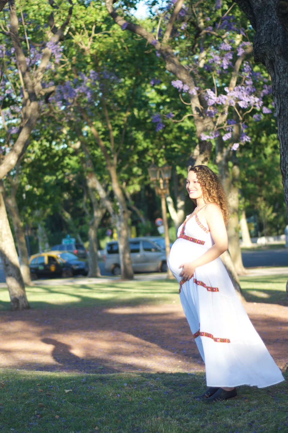 Jacaranda Maternity Photoshoot