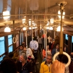 Inside an old A-line subway car