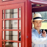 Telephone booth tourist